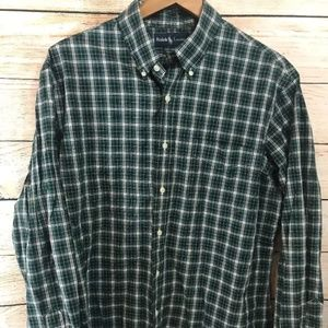 Mens Ralph Lauren Custum Fit Green Plaid Shirt XL
